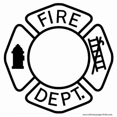 Coloring Pages Fireman Fire Printable Jobs Department