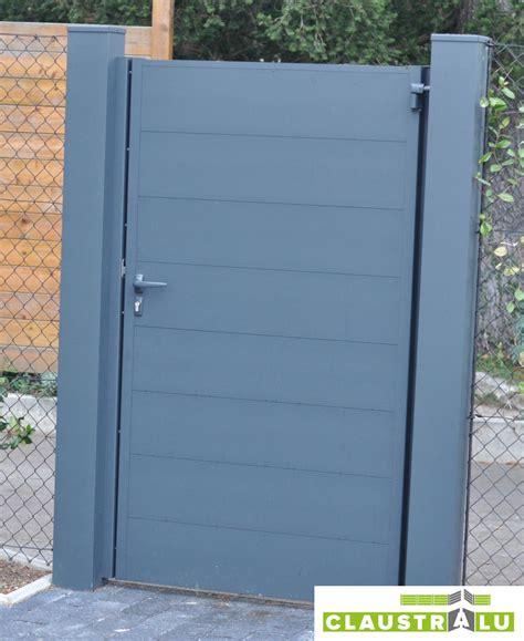 Portillon Alu Gris Portillon Plein Droit Style Contemporain Et Tendance Mod 232 Le Flat
