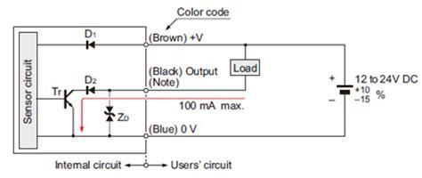 rectangular shaped inductive proximity sensor gx f h i o circuit and wiring diagrams panasonic