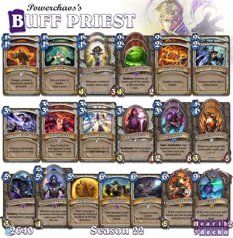 52 Best Images About Hearthstone  Priest Decks On