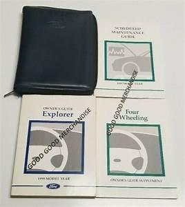 1999 Ford Explorer Sport Owners Manual Guide V6 4 0l Base
