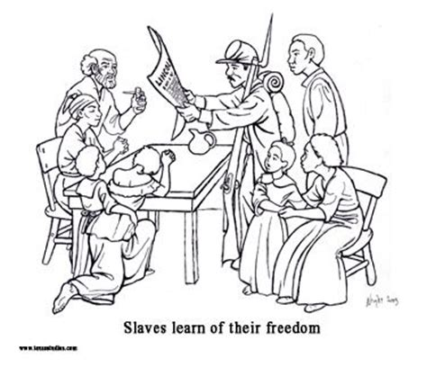 juneteenth coloring sheets google search emancipation