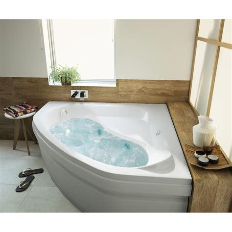 baignoire baln 233 o avec tablier angle l 140x l 140 cm