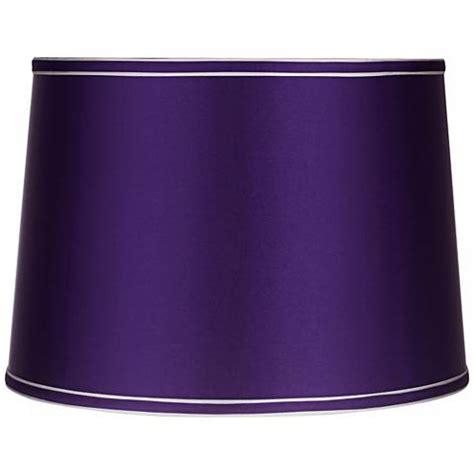 dark purple l shade sydnee satin dark purple drum l shade 14x16x11 spider