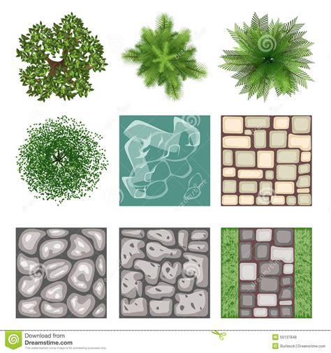 landscape design elements landscape design top view vector elements stock vector image 55137848