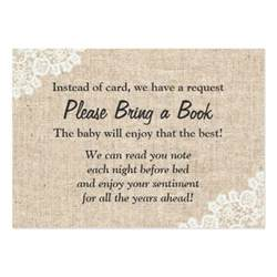 books instead of cards for baby shower poem burlap lace bring a book baby shower insert large