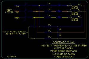 Wye    Delta Motor Starting Schematics