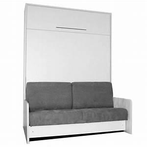 Lit Avec Armoire : armoire lit escamotable avec canap int gr au meilleur prix space sofa fast armoire lit ~ Teatrodelosmanantiales.com Idées de Décoration