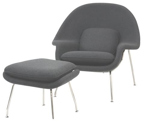 modern accent chair and ottoman modern light gray fabric lounge chair with ottoman wall
