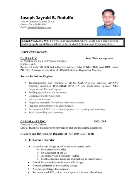Sle Cv For Call Center Without Experience by Cv Doc