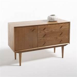 buffet vintage 1 porte 3 tiroirs quilda chene la With meuble quilda
