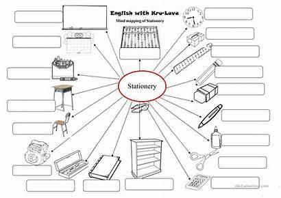 Stationary Coloring Worksheets Esl Classroom Words Worksheet