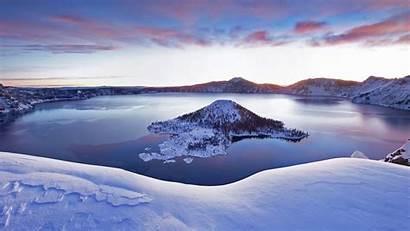 Lake Crater Snow Bing Oregon