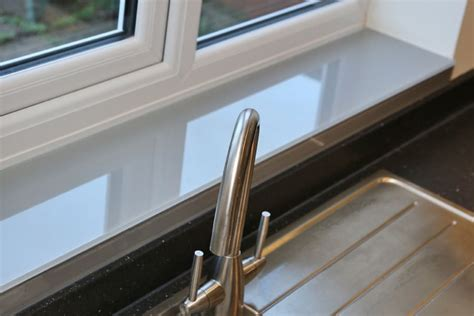 splashbacks for kitchen glass window sill finished in farrow manor house grey