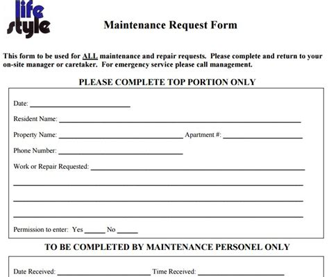 maintenance request form template charlotte clergy coalition