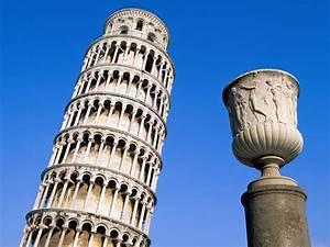 Sky Touching Pisa Tower Wallpaper