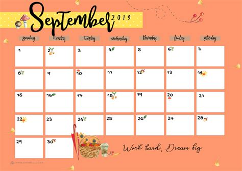 printable colorful calendar  colorful zone