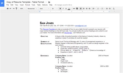 To Create A Pdf Resume by How To Make A Resume In Docs Tip Dottech