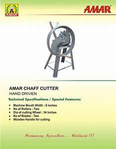 Amar Manual Chaff Fodder Cutter