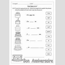 French  Quel âge Astu? Et C'est Quand Ton Anniversaire? By Labellaroma  Teaching Resources Tes