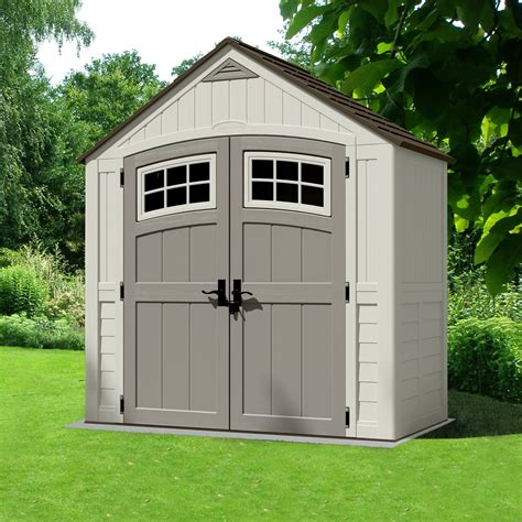 plastic outdoor sheds cascade shed 7ft x 4ft from suncast gardensite co uk