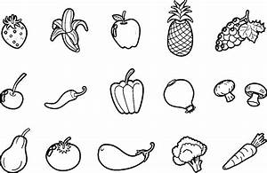 Pictures Of Fruits And Vegetables For Coloring : Kids ...