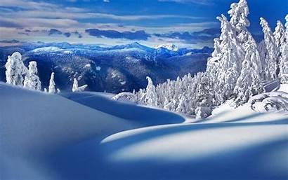 Winter Scenery Nature Snow Hills Snowscape