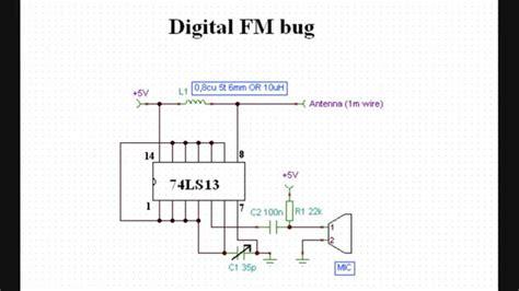 World Simplest Digital Bug Transmitter Circuit