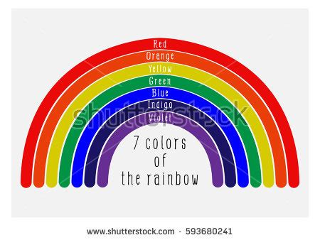 7 colors of rainbow 7 colors rainbow stock vector 593680241
