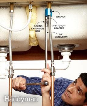 removing faucet from kitchen sink cool tool wrench for removing faucets the family handyman