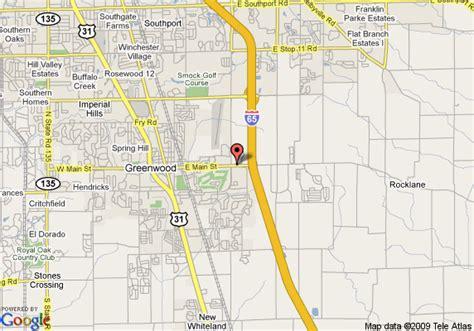 map of red carpet inn greenwood greenwood