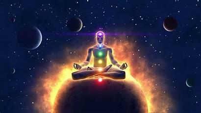 Meditation Cosmic Spiritual Enlightenment Eye Chakras Awakening