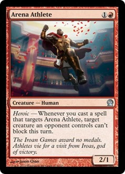 Foil cards, officially styled as premium cards,1 are magic cards which have a foil or glossy finish to them. Arena Athlete FOIL NM Theros MTG Magic Cards Red Uncommon   eBay