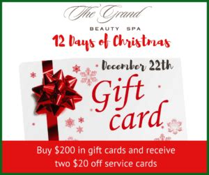 12 days of christmas gift cards and a gift for you