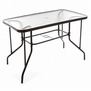 Table De Balcon : table bistro balcon plateau en verre trou parasol achat vente table de jardin table bistro ~ Teatrodelosmanantiales.com Idées de Décoration