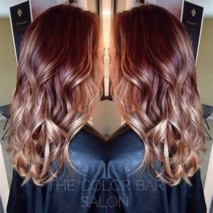 Balayage Braun Rot : red brown to blonde ombr the color bar salon in 2019 pinterest ~ Frokenaadalensverden.com Haus und Dekorationen