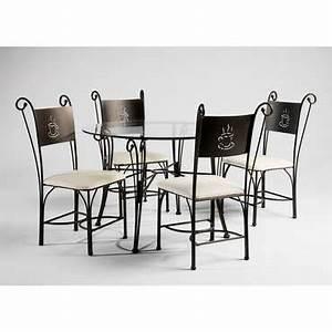 Table Ronde En Verre Conforama : ensemble table et chaise de cuisine ameublement cuisine ~ Nature-et-papiers.com Idées de Décoration