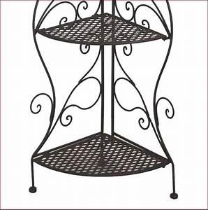Petite étagère D Angle : petite etagere de coin d angle en fer forge a etages ideal cuisine salle de bain ebay ~ Teatrodelosmanantiales.com Idées de Décoration