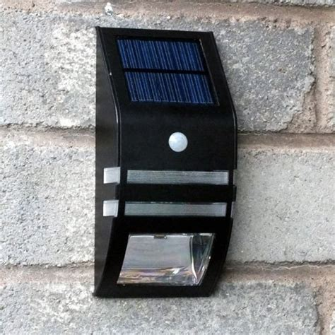 solar dual led pir sensor security wall light