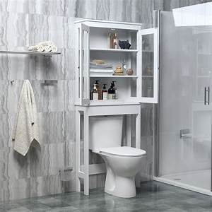 Bathroom, Cabinet, Storage, Cabinet, Wall, Cabinet, Over, The, Toilet, Bathroom, Space, Saver, With, 3