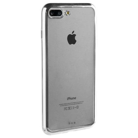 apple iphone    cell phone case silver