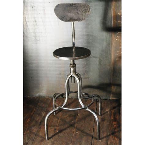 tabouret style industriel chaises haute atelier acier meubles style indutsriel tabourets
