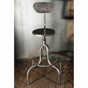 Tabouret De Bar Industriel : tabouret style industriel chaises haute atelier acier ~ Nature-et-papiers.com Idées de Décoration