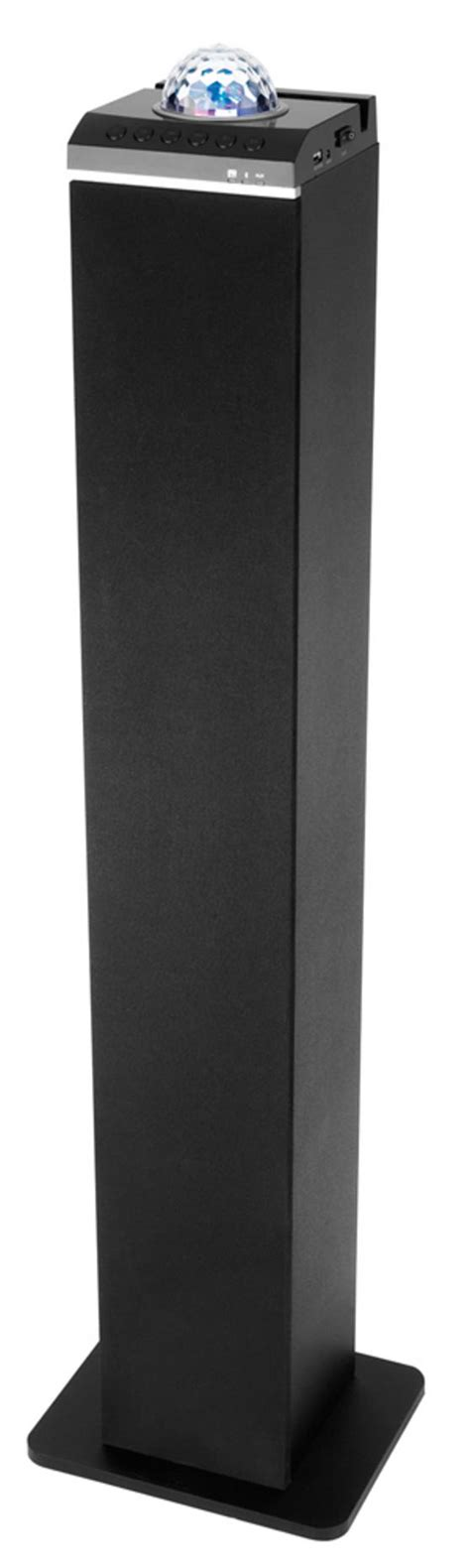 speaker with disco light intempo bluetooth tower speaker with disco light