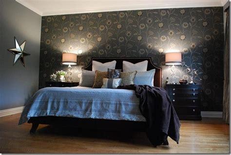 bedroom wallpaper feature wall 1 decor ideas