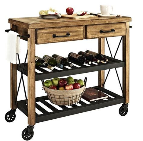 rustic kitchen islands and carts roots rack rustic kitchen cart 7843