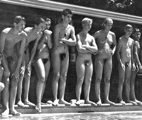 Nude Swim Team Meets