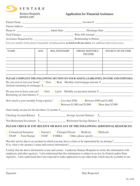 Sentara Financial Assistance - Fill Out and Sign Printable ...