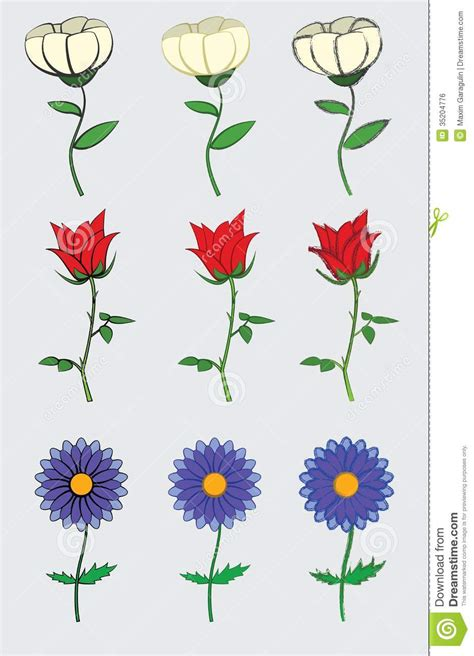 cute  simple flowers design royalty  stock image