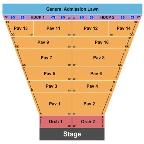 meadow brook amphitheatre seating chart rochester